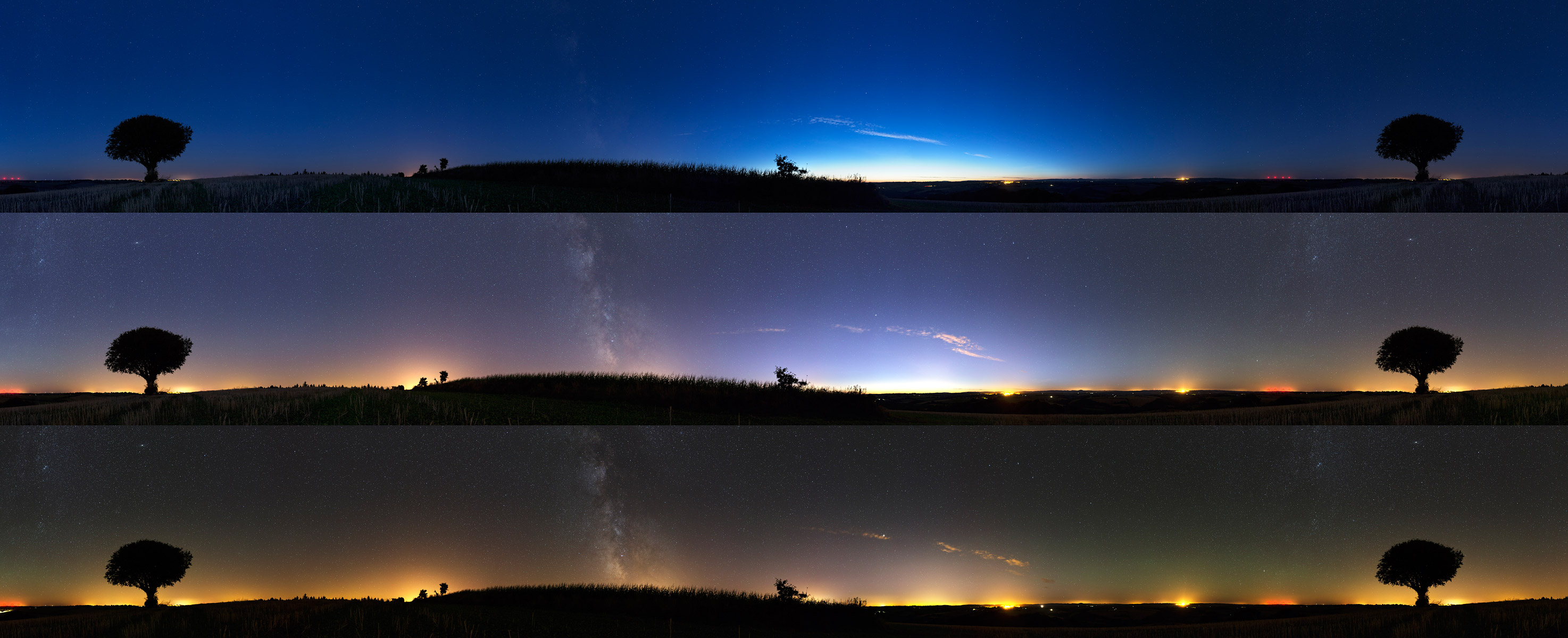 During the astronomical twilight
