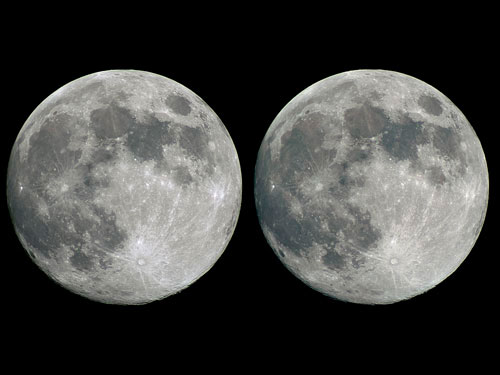 The Full Moon in 3D
