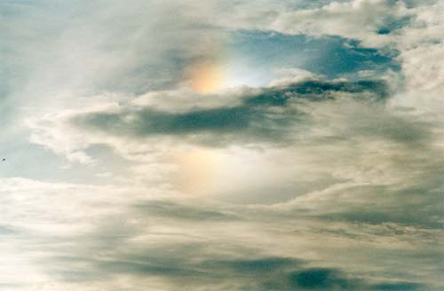 Colored parhelion
