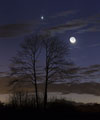 Moon-Venus-Mars conjunction